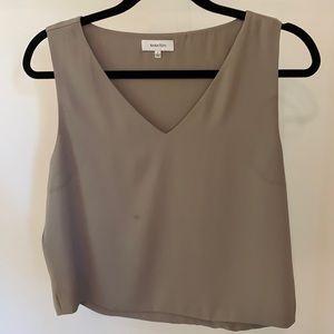 Aritzia Babaton Taupe blouse tank top